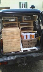 Transport des ruches