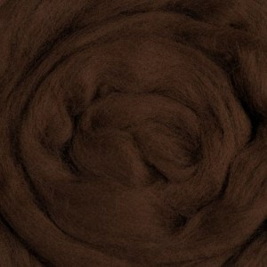 Brown Wool Fiber