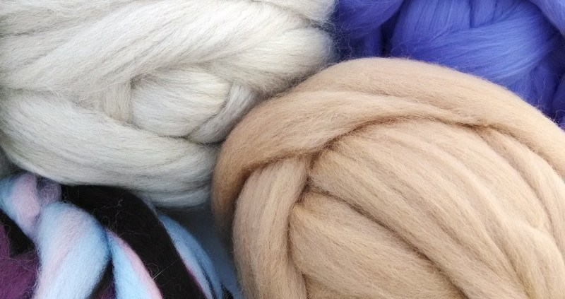 Assortment of wool fibers