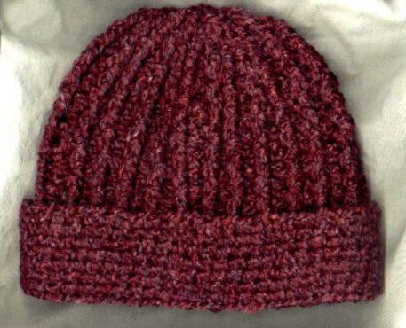 7fa7533f7 Crocheted Rib Hat Pattern - Mielke's Fiber Arts