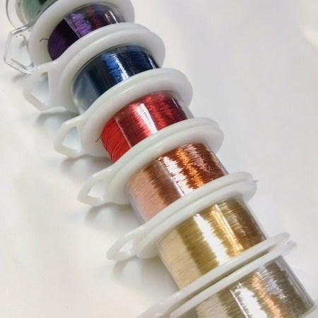 Wire for knitting and lacemaking