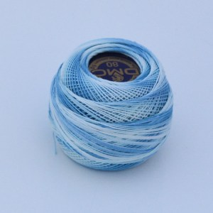 Variegated Aqua Blue 80 Tatting Thread