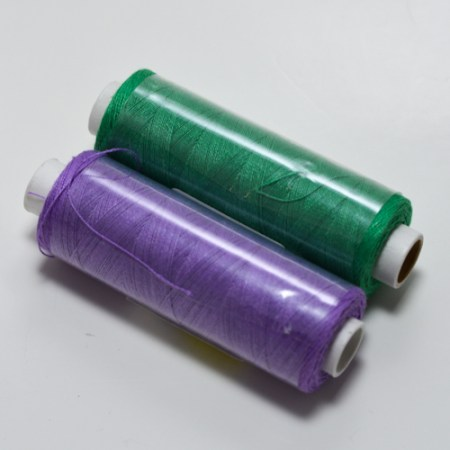 Linen Thread, Lilac and Light Green