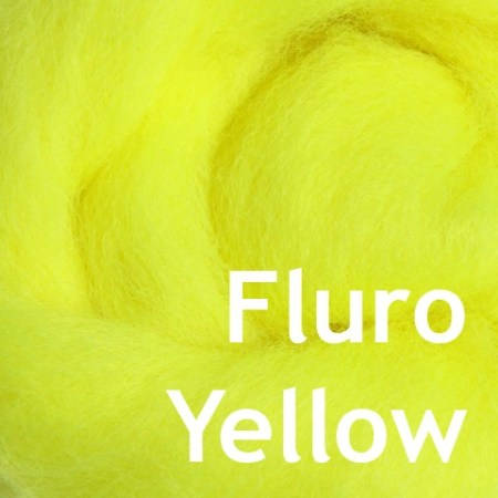 Fluro Yellow Wool Spinning Fiber