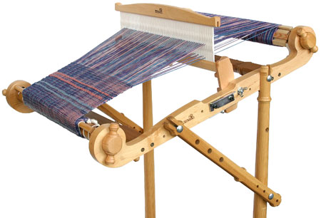 Closeup of Harp Loom Stand