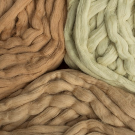Natural Cotton Available in Green, Brown and Cinnamon