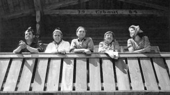 Balkonblick auf der Hochfeldernalm 1966, Foto: Privat
