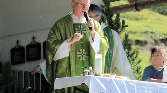 Almmesse mit Abt German Erd auf der Marienberg Alm, Foto: Knut Kuckel
