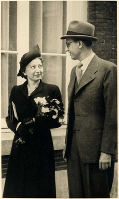 Jan and Miep Gies on their wedding day on July 16, 1941