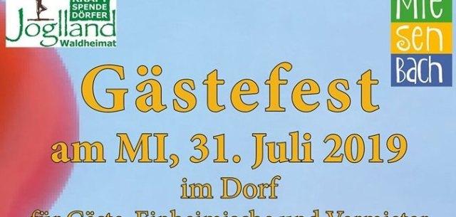Das Miesenbacher Gästefest 2019 kommt