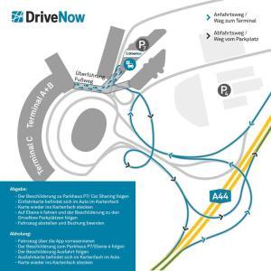 DriveNow am Flughafen Düsseldorf