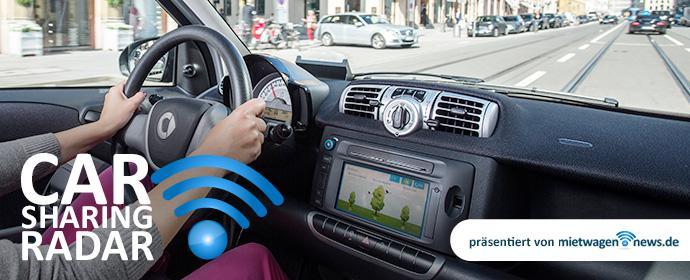 Carsharing Radar-- hoher Ekelfaktor beim Autofahren mit Carsharing Autos