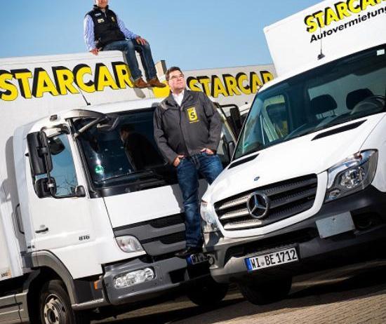STARCAR mit neuer App für die Anmietung - Hier die Geschäftsführer v.o.n.u. Tobias Höpfner und Maik Grabow