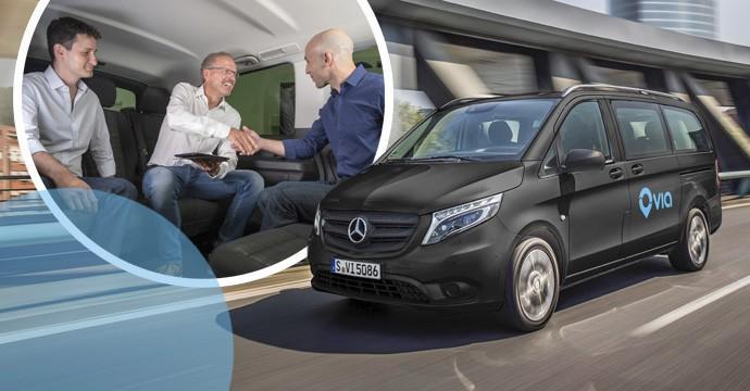 Daimler stellt mit Via ein neues Ridesharing vor - mit dem Van auf Abruf und zusammen mit anderen durch die Stadt