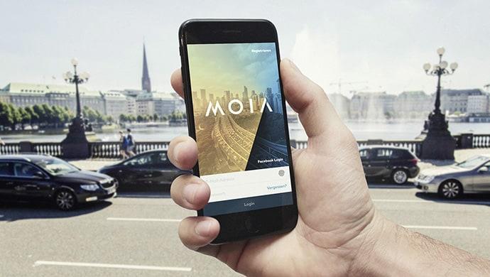 Die MOIA-App ist neben dem elektrisch angetriebenen Kleinbus das größte Projekt von Volkswagens 13er Konzernmarke