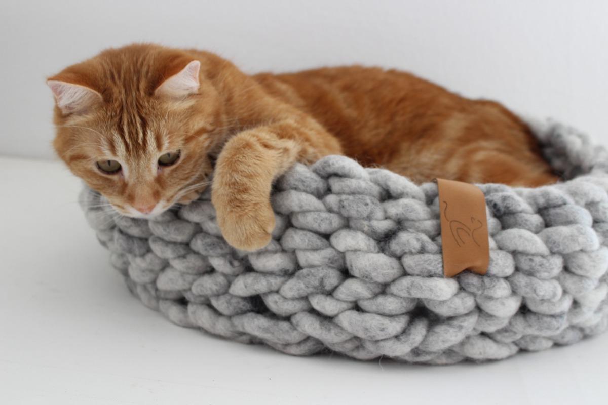 Design Katzenbett Wollkuschler