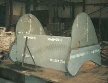Weldox used to fabricate bucket