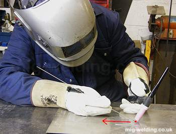 TIG Welding Body Position