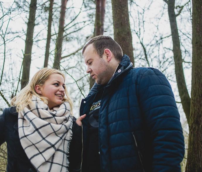 Teresa i Maciek zimowa sesja dla dwojga.
