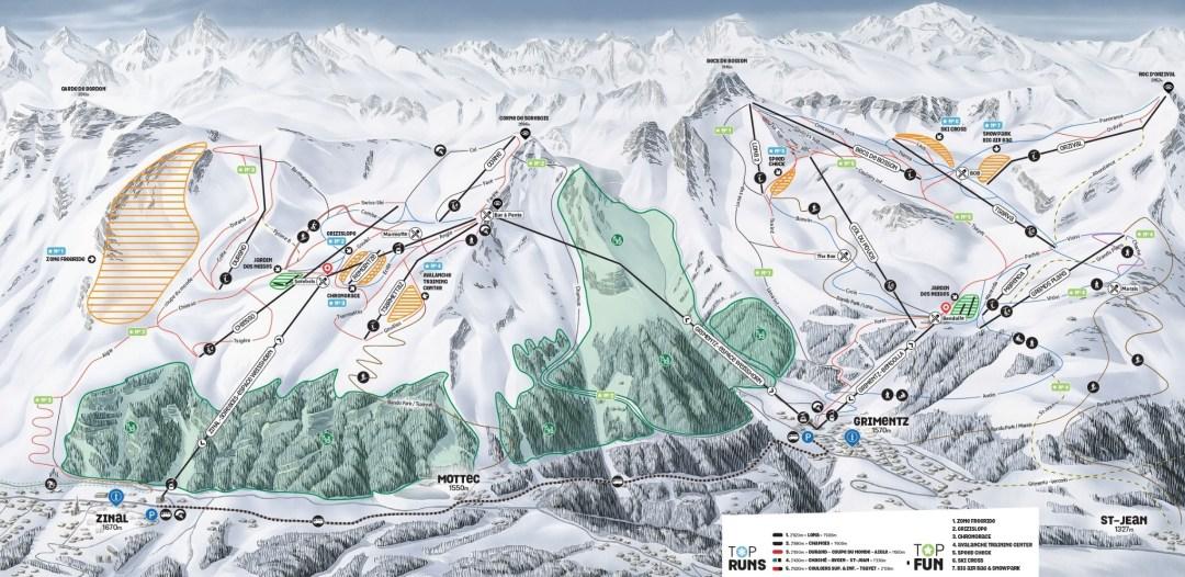 Grimentz-Zinal ski map