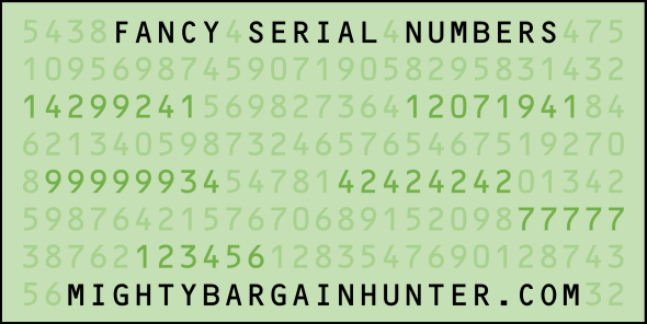 Dollar bills worth money - fancy serial numbers