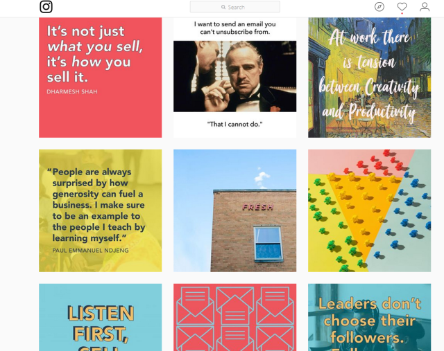 Design tips for instagram from Hubspot