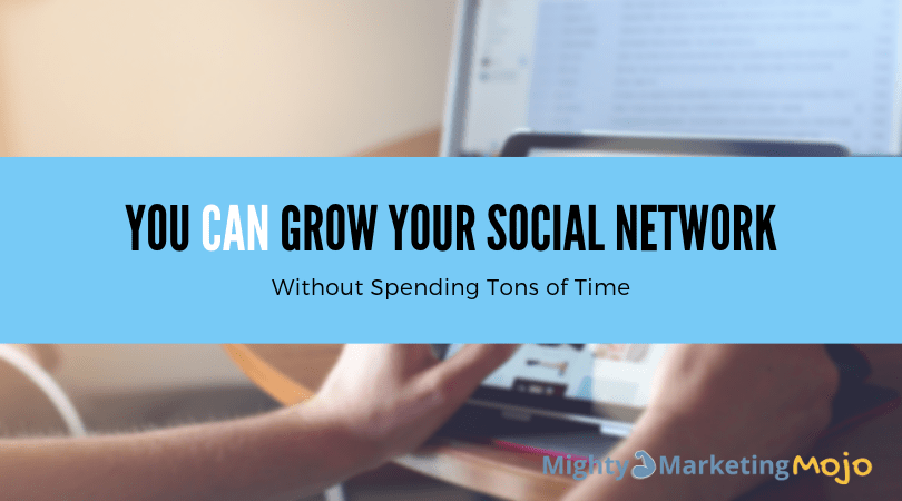 Grow Social Media Network for business in less time curated post