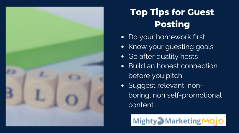 Mighty Marketing Mojo Tips for Guest Blog Posts in 2020