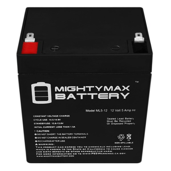 12V 5AH Battery Replaces Quantum QC1IPFF Telephone Entry System