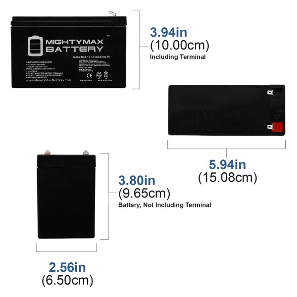 12V 8Ah SLA Battery Replacement for Kantech KT-BATT