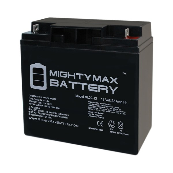 12V 22AH SLA Battery Replaces Golden Tech. Lite Rider GP162 Scooter