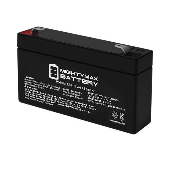 6V 1.3Ah Battery Replacement for Caterpillar 12