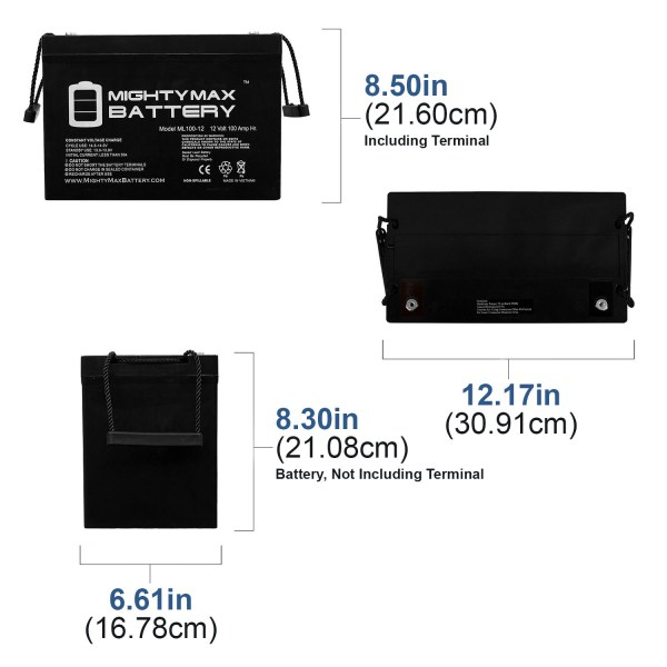 12V 100Ah SLA AGM Battery for SUVPR XT-GP1000 Solar Power System