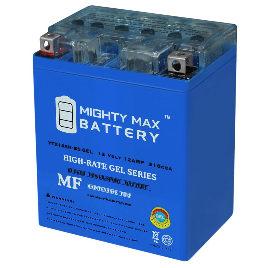 YTX14AH GEL 12V 12AH Maintenance Free Motorcycle Battery