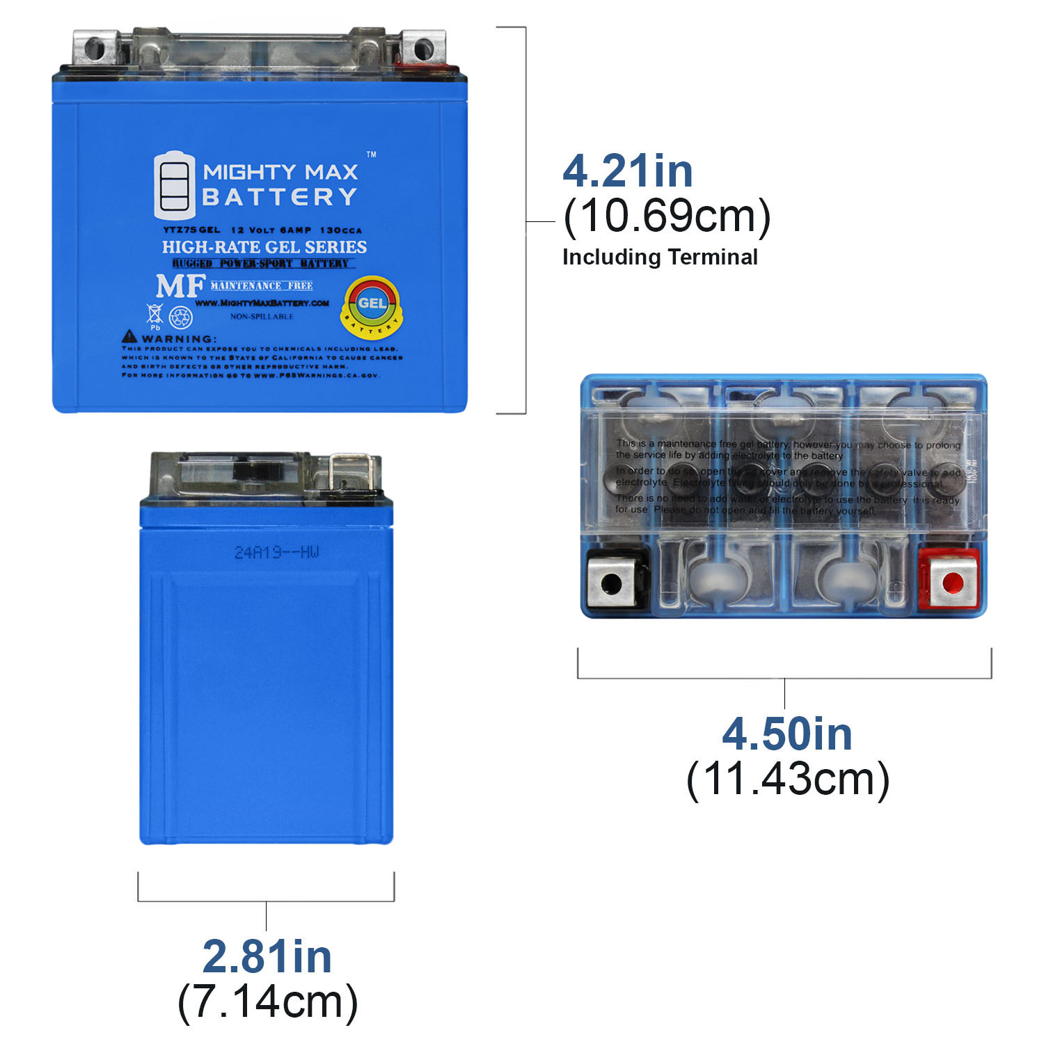 MMG3 YTZ7S Lithium Ion Sealed Powersports Battery 12V Powerful 150CCA No spills Factory Activated Ready to Use for Motorcycles Scooters ATVs