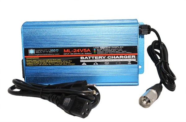 24 Volt 5 Amp Wheelchair Battery Charger