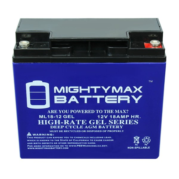12V 18AH GEL Battery Replaces GoGo Travel Mobility Elite LR SC40LR