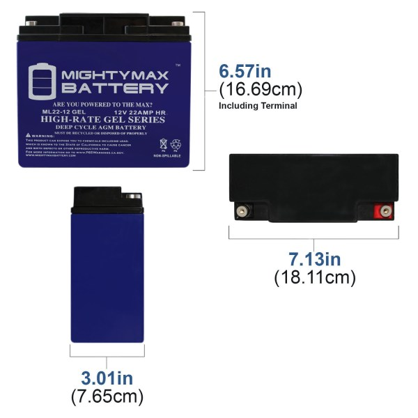 12V 22AH GEL Battery for EW72 Mobility Scooter Wheelchair