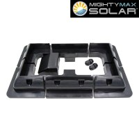 Universal ABS NO DRILL RV Solar Panel Mount