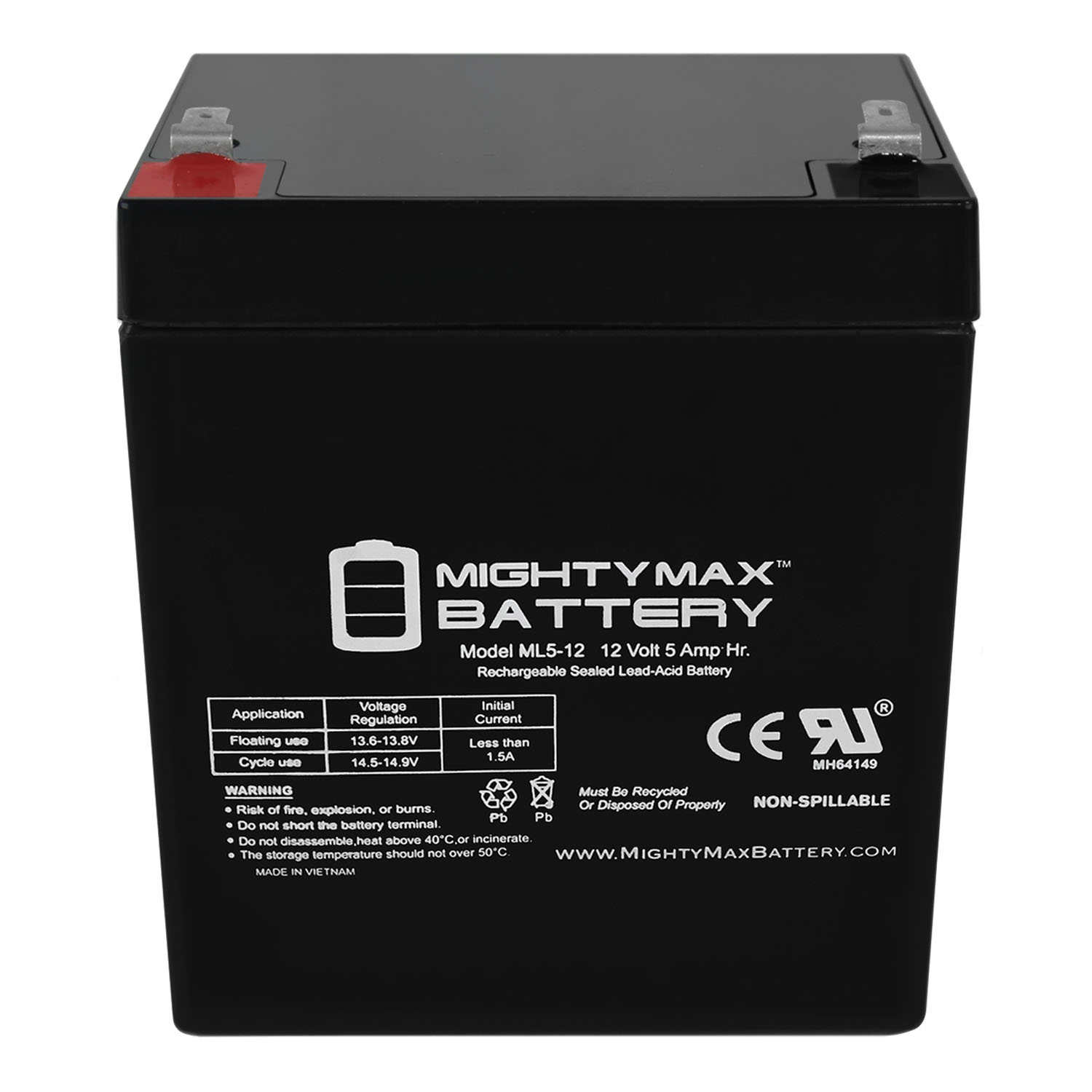 12V 5Ah F2 Sealed Lead Acid SLA Battery Replaces Belkin F6350