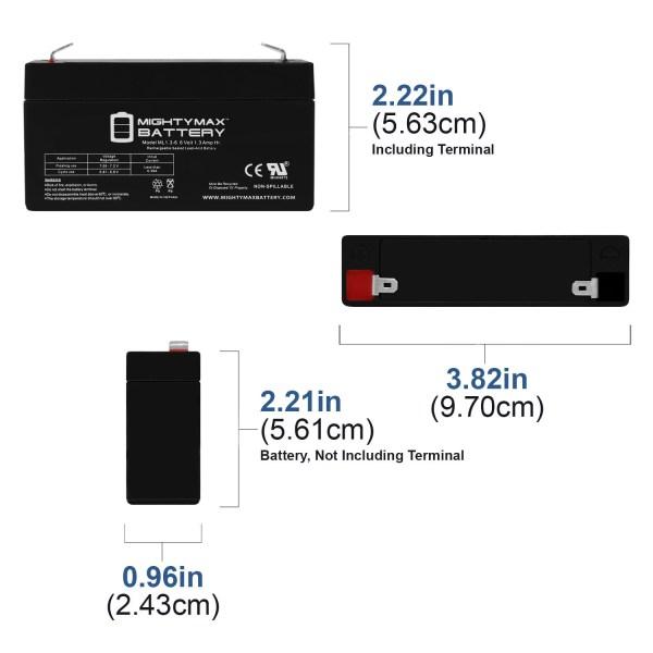 ML1.3-6 6V 1.3AH SLA Battery F1 Terminal