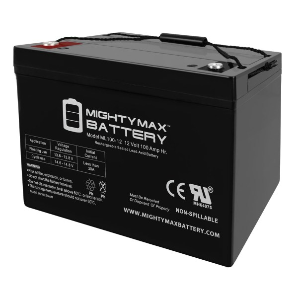 12V 100Ah SLA Battery Replacement for Panasonic LCR12V80P