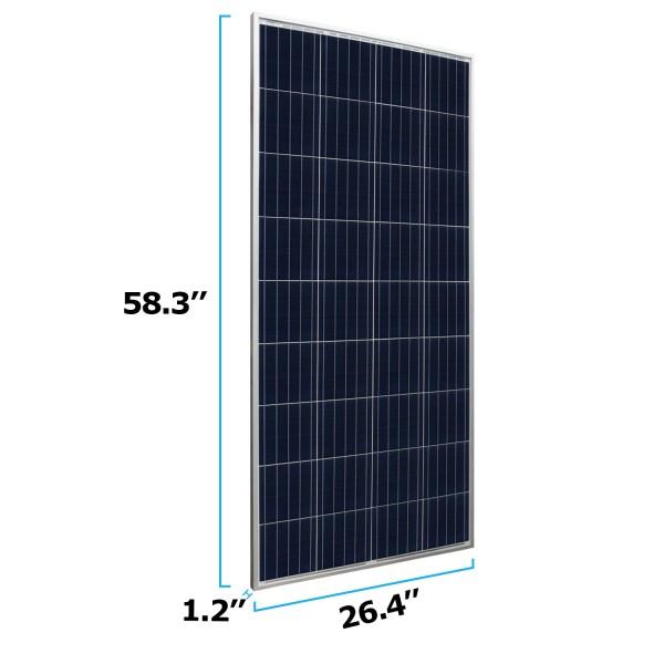 160 Watt 12 Volt Waterproof Polycrystalline Solar Panel Charger