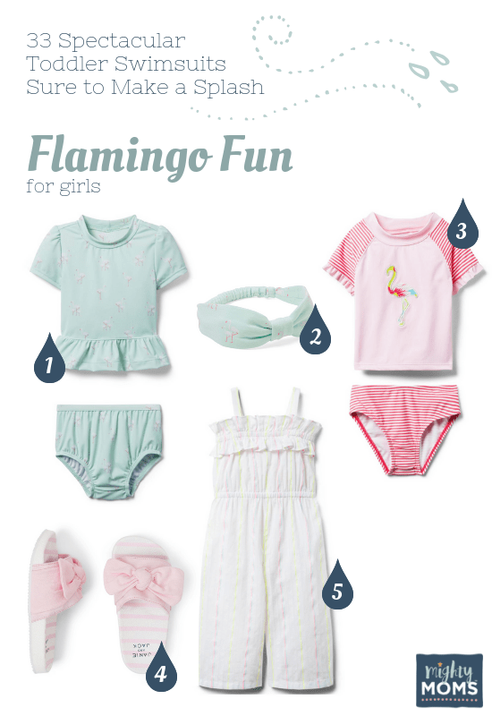 Spectacular Toddler Swimsuits: Flamingo Fun - MightyMoms.club