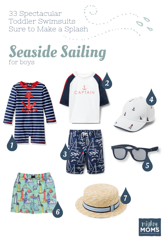 Spectacular Toddler Swimsuits: Seaside Sailing - MightyMoms.club