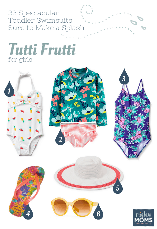 Spectacular Toddler Swimsuits: Tutti Frutti - MightyMoms.club