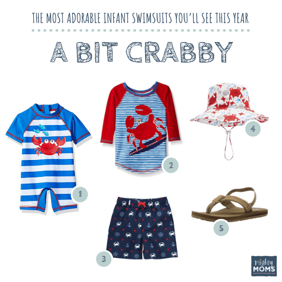 Infant Swimsuits: A Bit Crabby Collection - MightyMoms.club