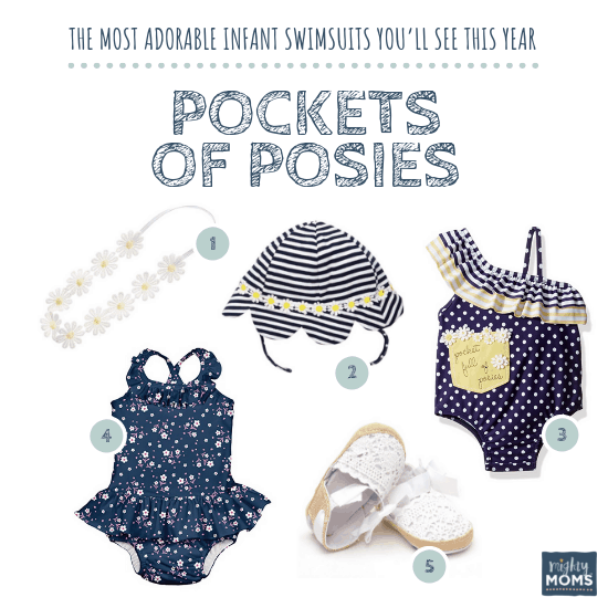 Infant Swimsuits: Pockets of Posies Collection - MightyMoms.club