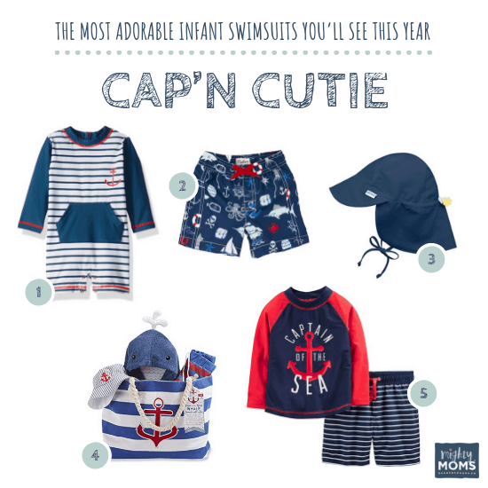 Infant Swimsuits: Cap'n Cutie Collection - MightyMoms.club