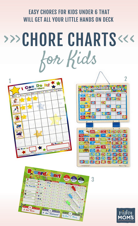 Helpful reward charts and chores for kids